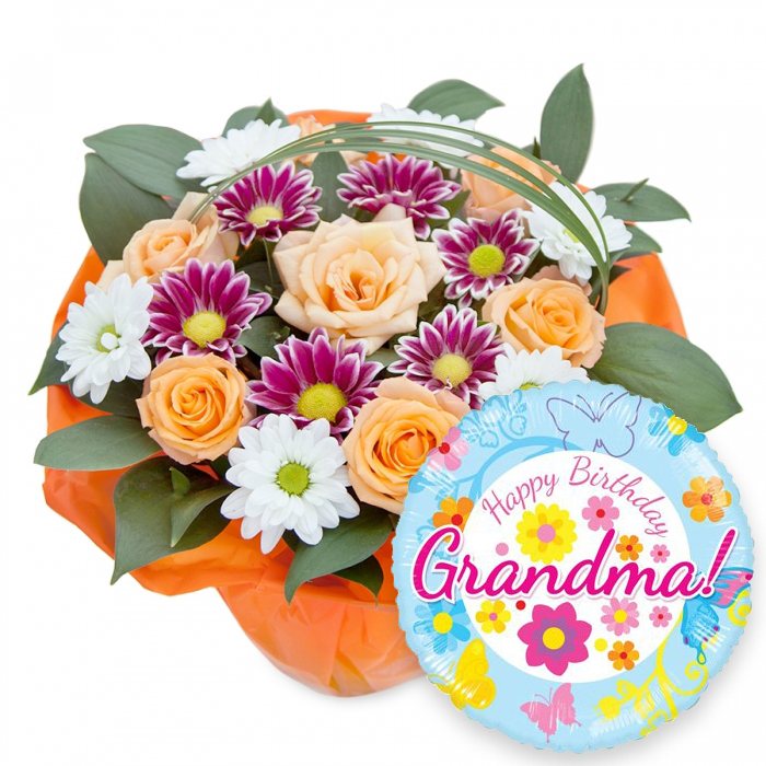 Happy Birthday Grandma Ideal Flowers By Handy