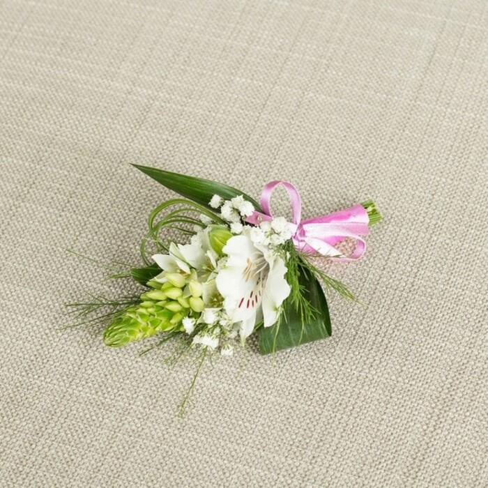 White alstroemeria groom buttonhole handy flowers white alstroemeria groom buttonhole mightylinksfo