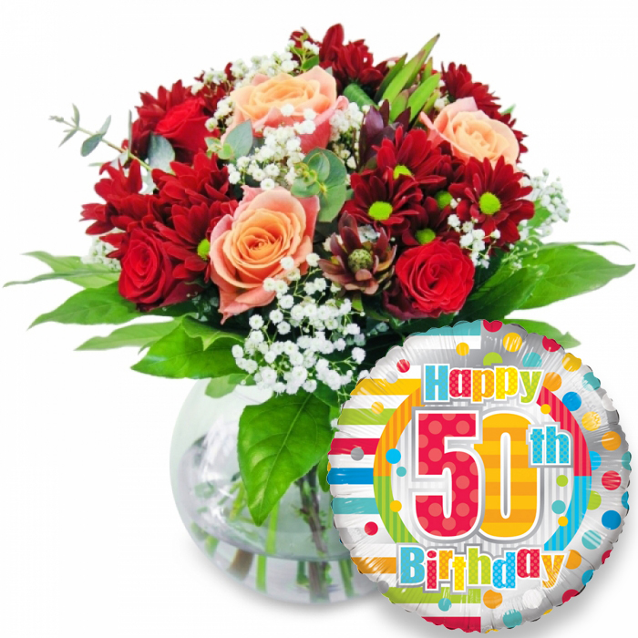 Order Wondrous Blooms 50th Birthday With Handy Flowers The Best Flower Shop