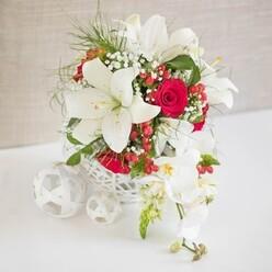 ROSE ORCHID WEDDING CENTREPIECE