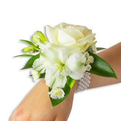 WHITE WONDERS WEDDING CORSAGE 1