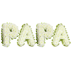 WHITE CHRYSANTHEMUMS PAPA TRIBUTE