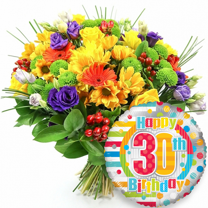 Tropical Sensation 30th Birthday Perfect Birthday Surprise From Handy Flowers