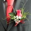 RED ROSE BUTTONHOLE 2